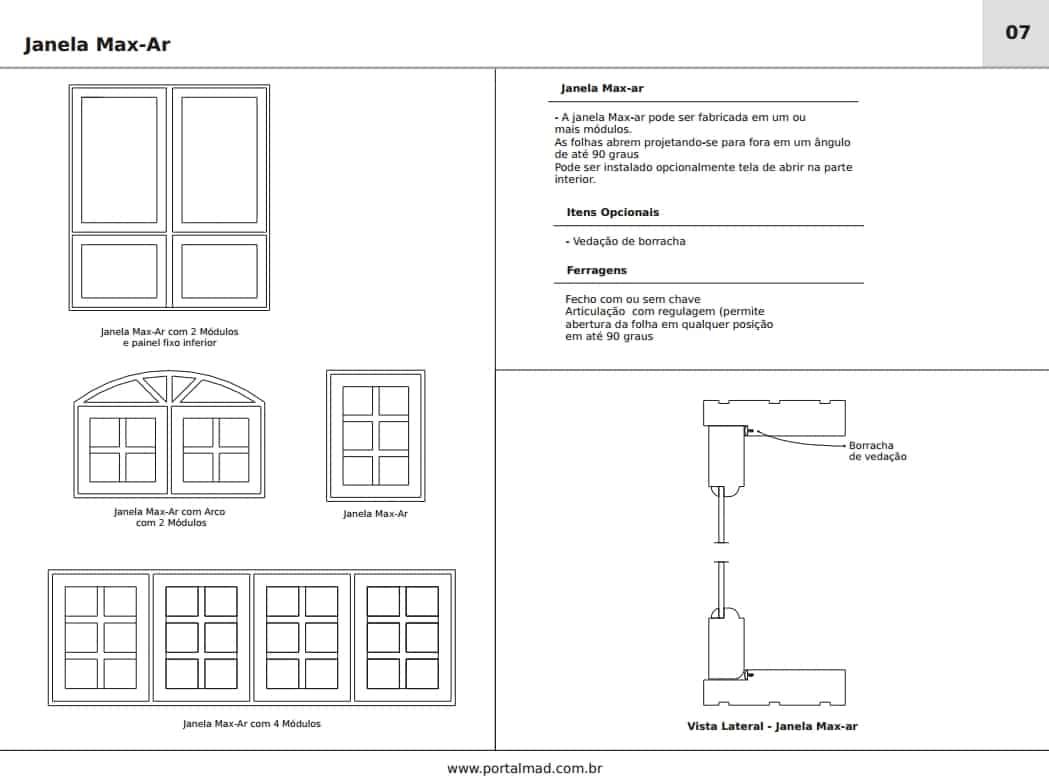 #594E47 Janela maxi ar max ar maxiar madeira esquadrias 4406 Janela Aluminio Max Ar
