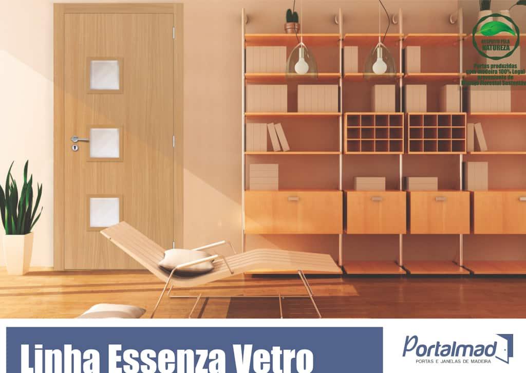 Porta de madeira - Alto Padrão - Venda - Portas Especiais - Portas para Sala - Portas de Madeira com Vidro