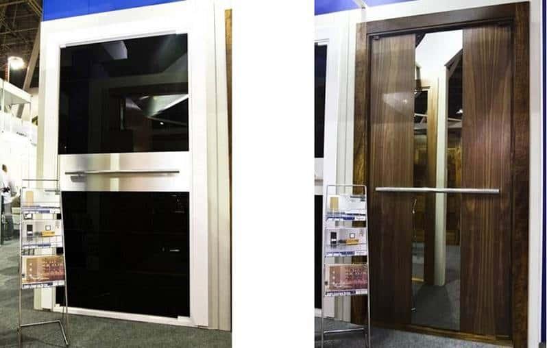 Porta de Madeira Alumínio e Vidro - Entrada - Espelho - Luxo
