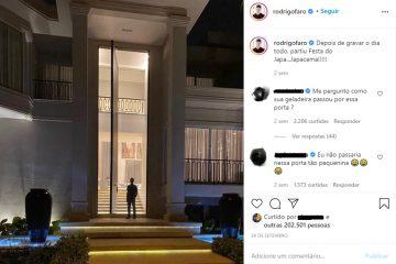 Porta de Entrada - Grande - Luxo - Preço - Rodrigo Faro