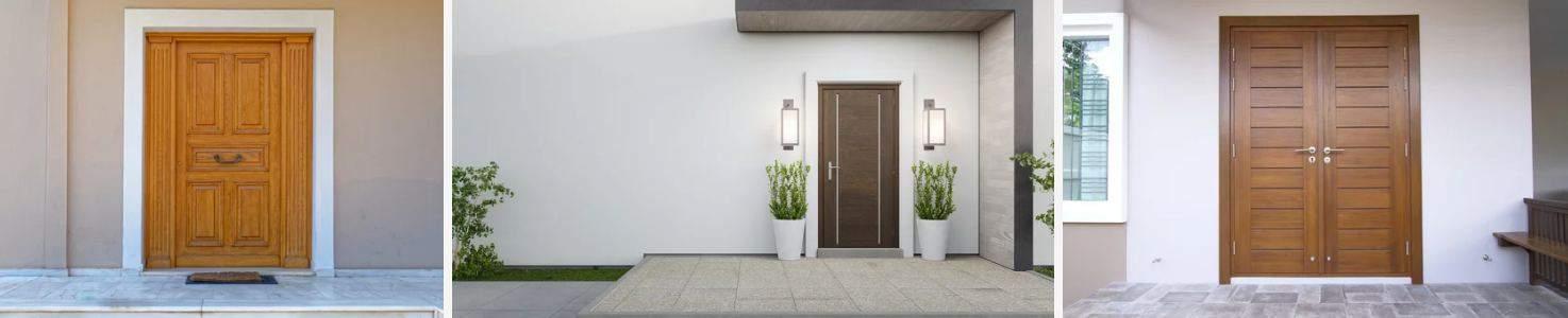 Portas externas de madeira maciça - Portas de entrada de alto padrão sob medida